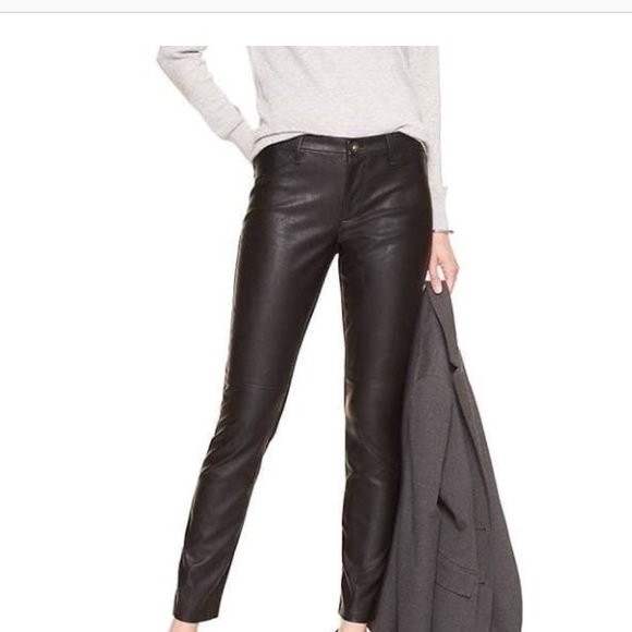873252e5 Zara Pants   Faux Leather Jeans With Back Pockets Nwt M   Poshmark